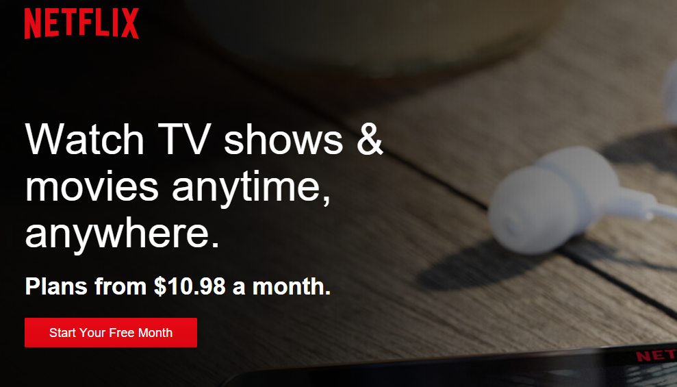 Just click that button on Netflix's home page to get started.