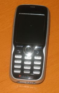 My old Sony Ericsson K508i. It'll be a chore typing long messages with this...