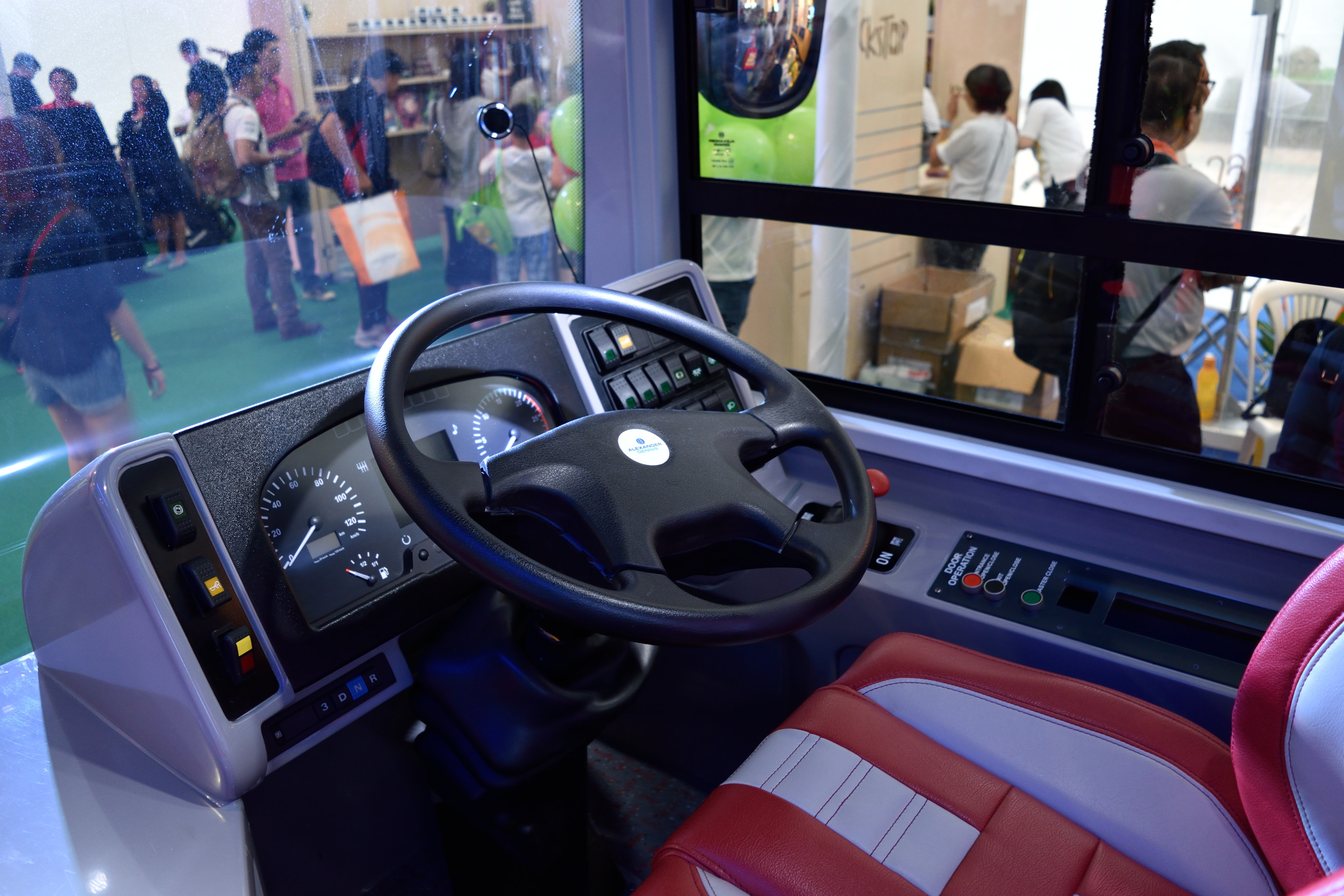 Bus A's dashboard.