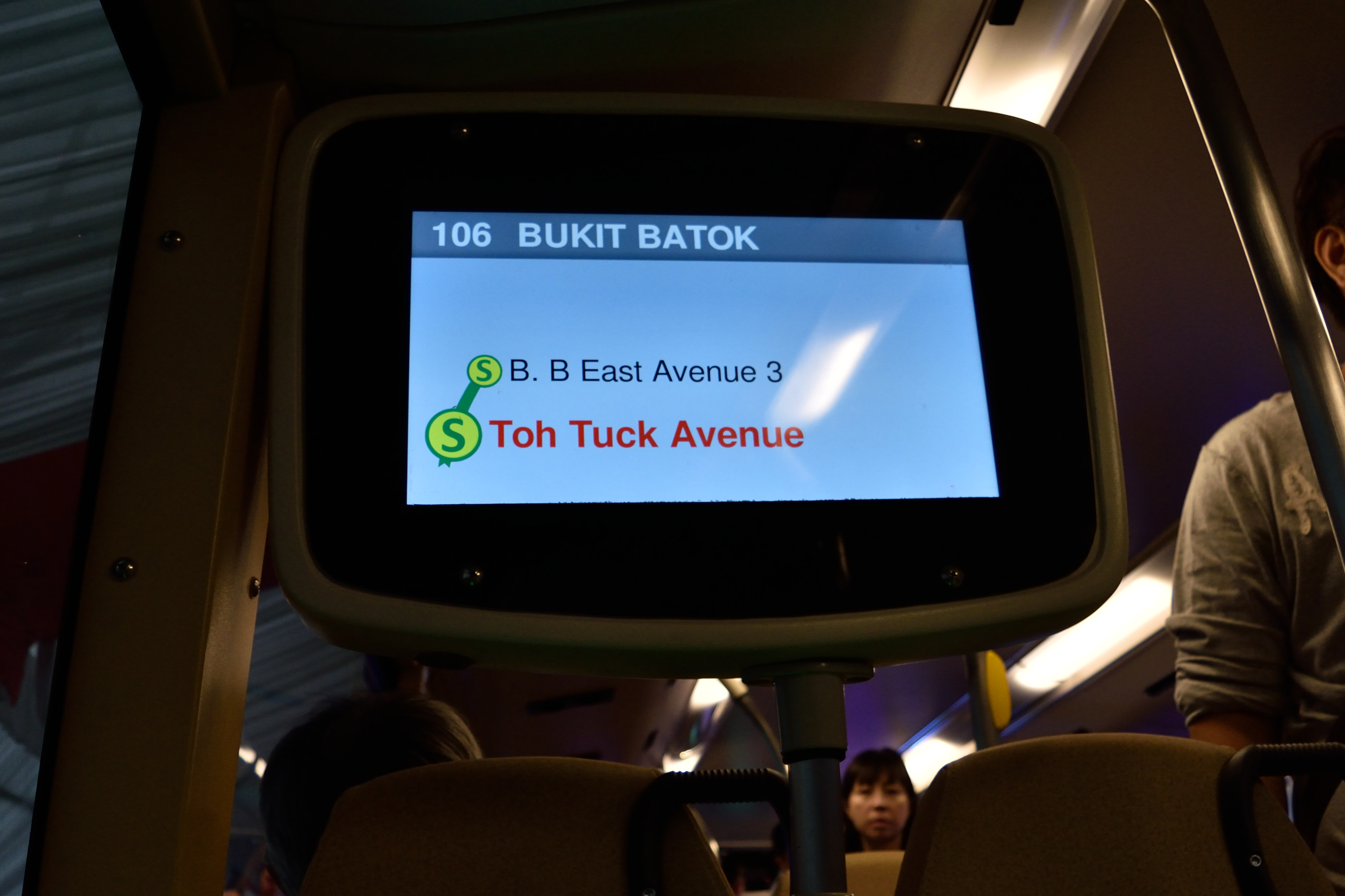Bus route display.