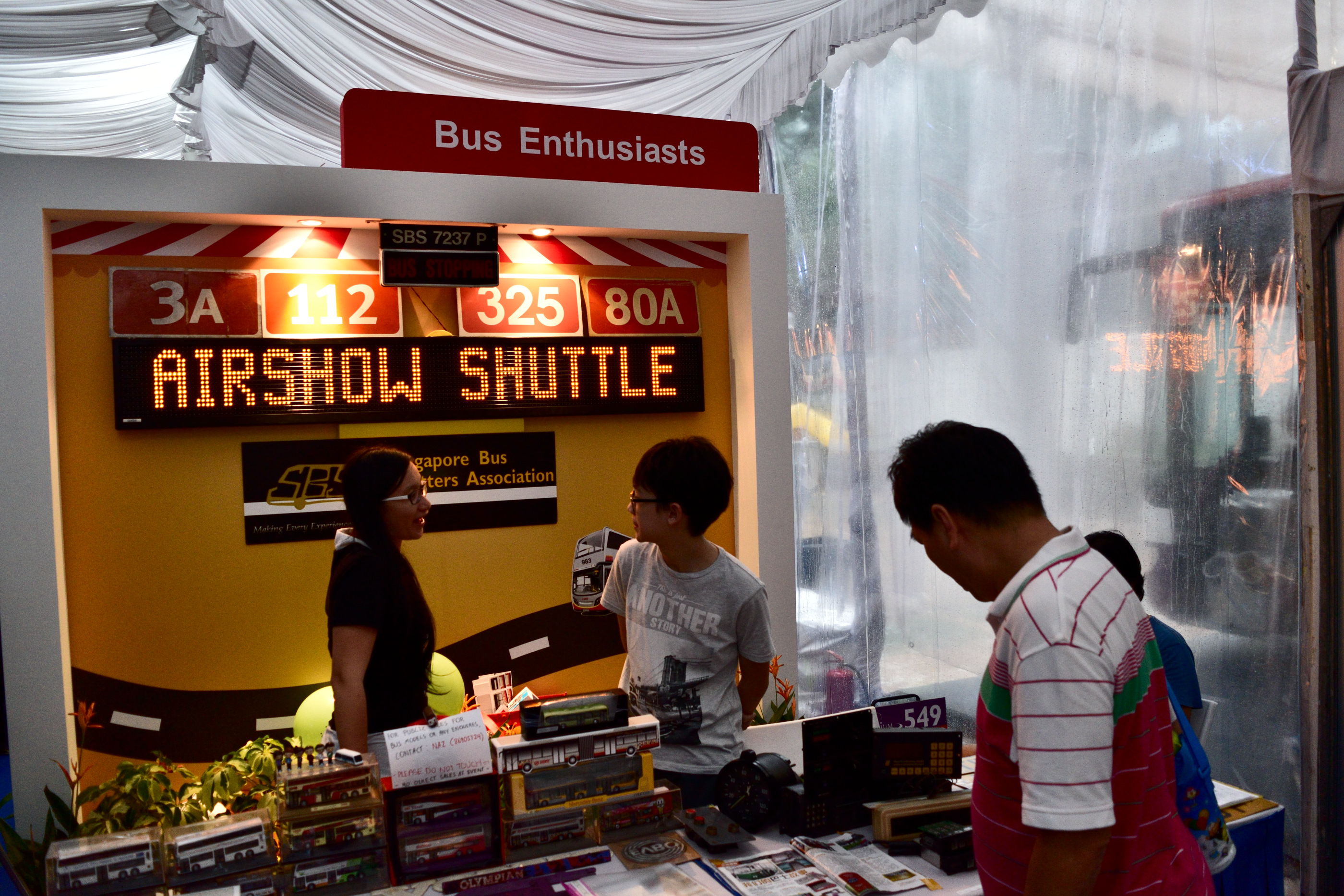 The bus enthusiasts' booth