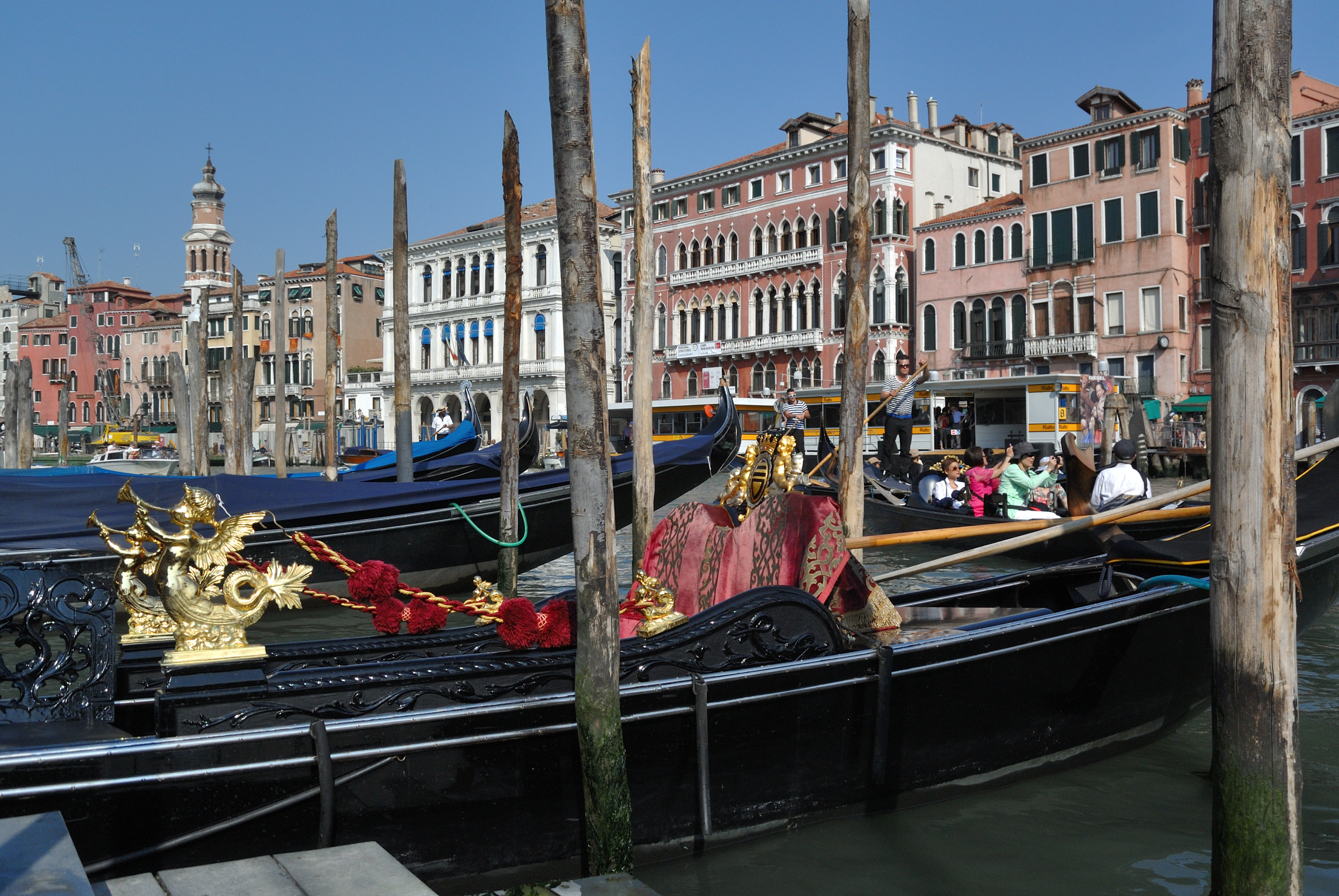 Gondolas at the Grand Canal