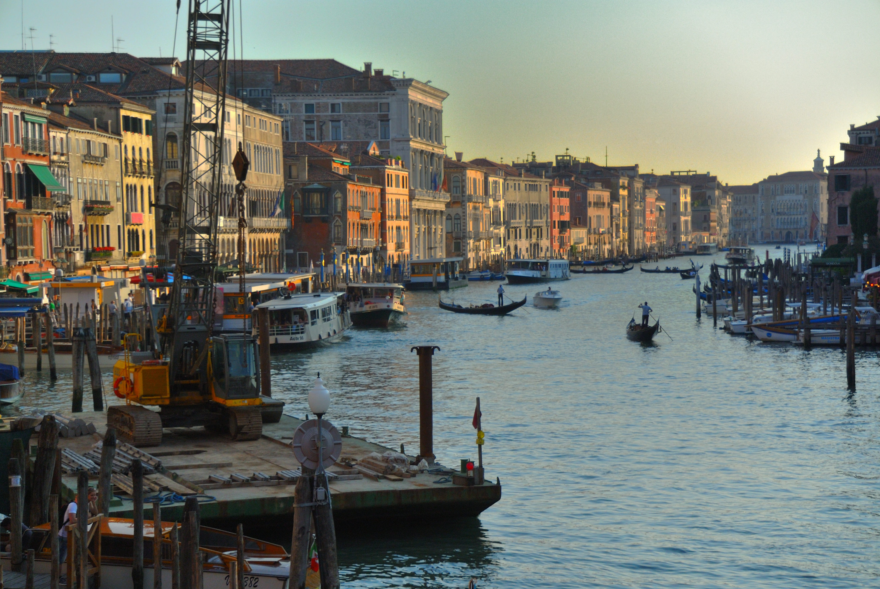 A picturesque view of the Grand Canal from the Vaporetto