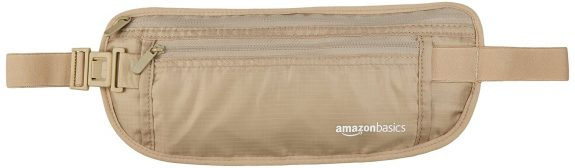 A money belt sold by Amazon