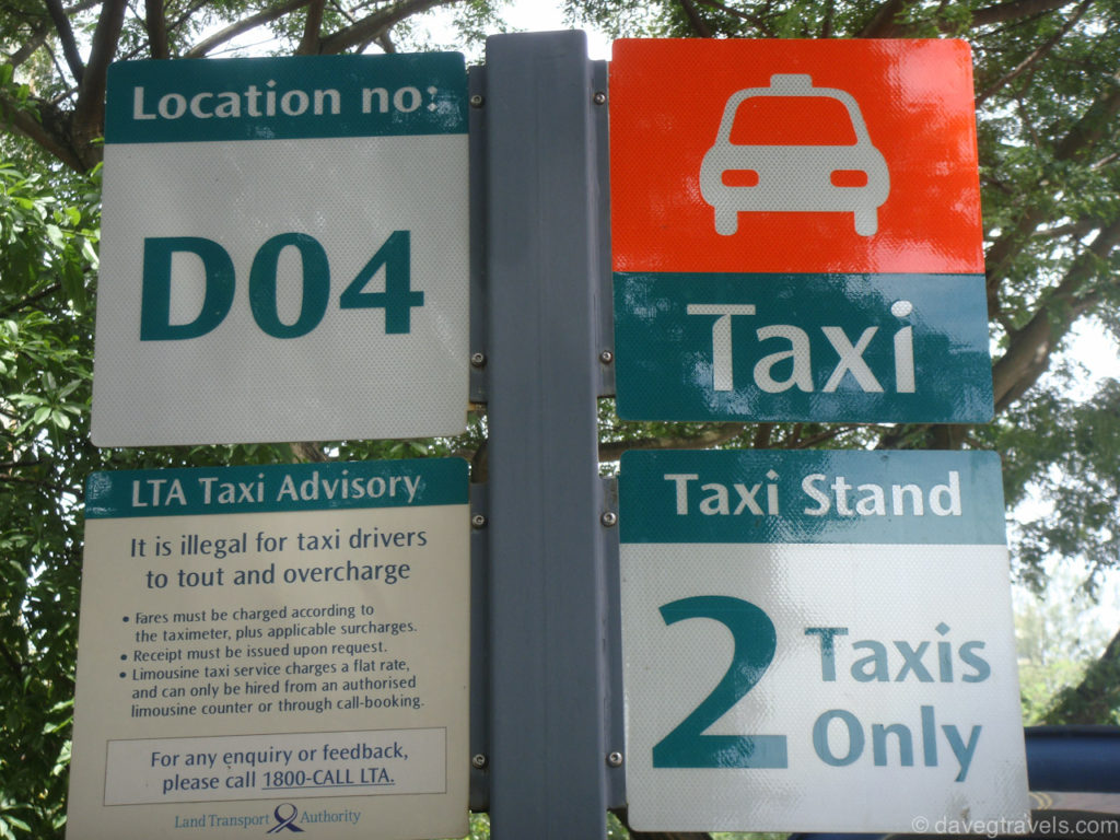 A taxi stand sign. Source: Grab